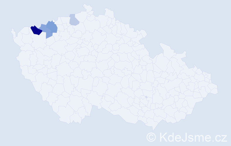 Příjmení: 'Egermannová', počet výskytů 7 v celé ČR