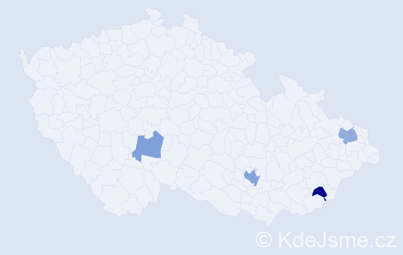 Příjmení: 'Dornay', počet výskytů 7 v celé ČR