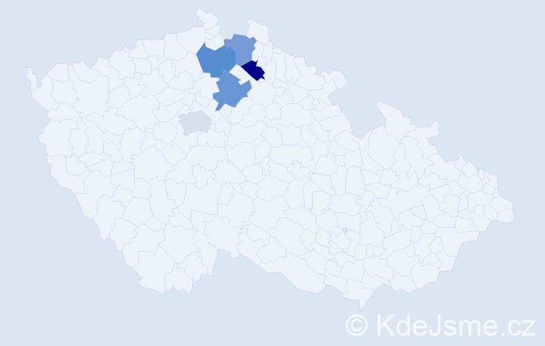Příjmení: 'Casanovová', počet výskytů 5 v celé ČR