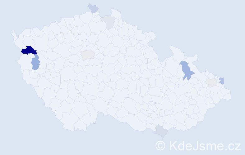 Příjmení: 'Lazur', počet výskytů 22 v celé ČR