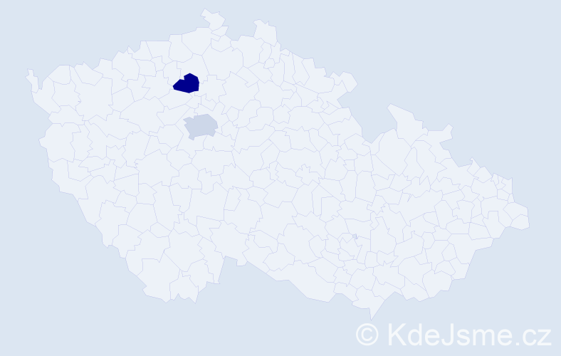Příjmení: 'Elterleinová', počet výskytů 5 v celé ČR