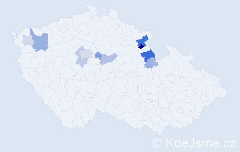 Příjmení: 'Biederman', počet výskytů 32 v celé ČR