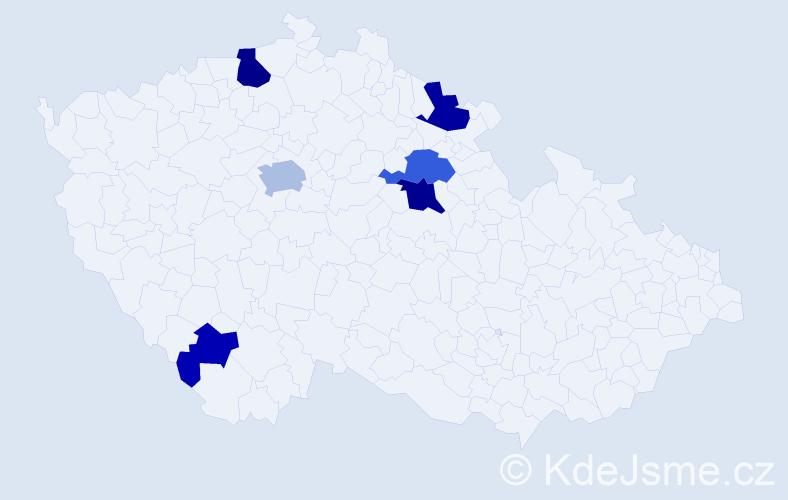 Příjmení: 'Helvichová', počet výskytů 14 v celé ČR