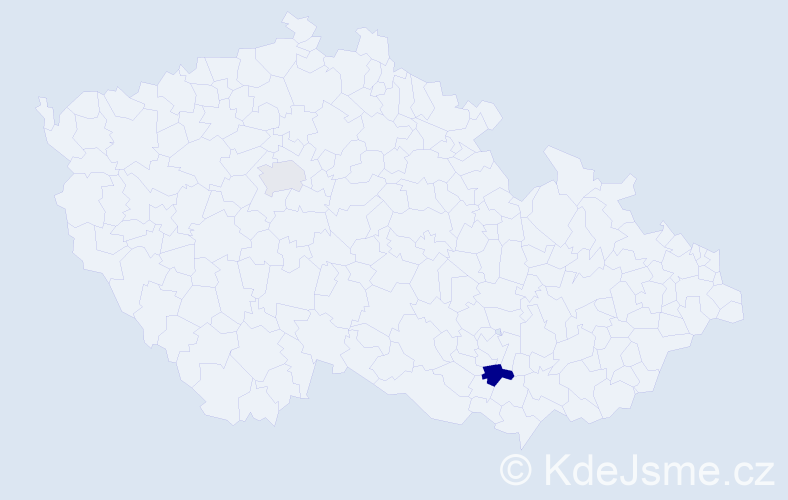 Příjmení: 'Jarabko', počet výskytů 3 v celé ČR