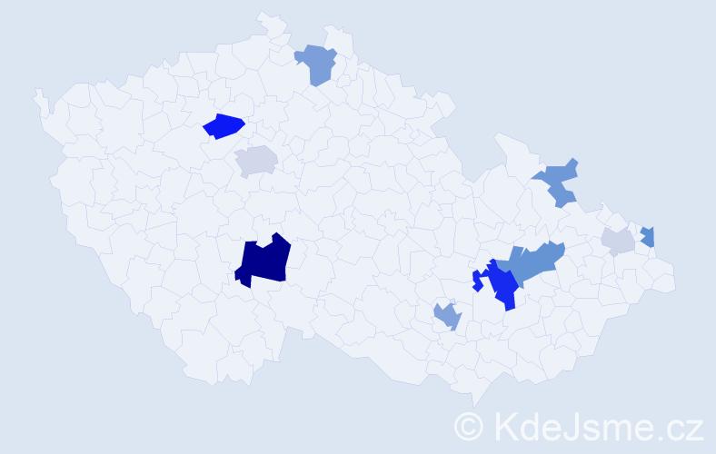 Příjmení: 'Gončárová', počet výskytů 27 v celé ČR
