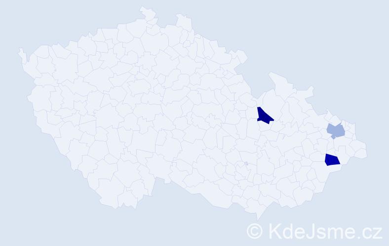 Příjmení: 'Balavajderová', počet výskytů 6 v celé ČR