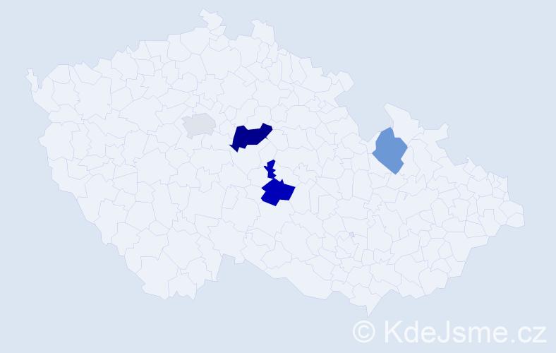 Příjmení: 'Illmannová', počet výskytů 7 v celé ČR