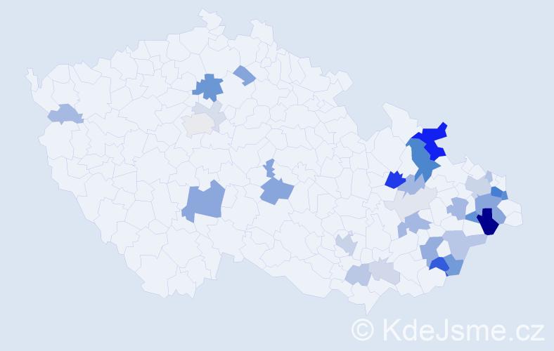 Příjmení: 'Butora', počet výskytů 91 v celé ČR