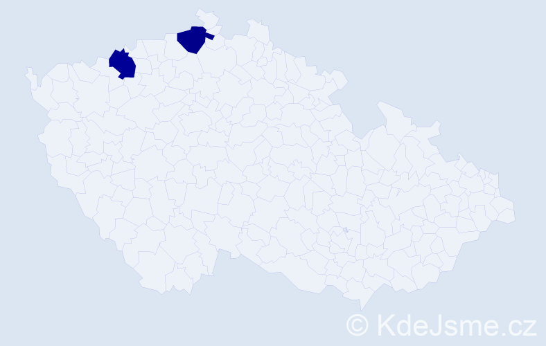 Příjmení: 'Ďurďáková', počet výskytů 2 v celé ČR