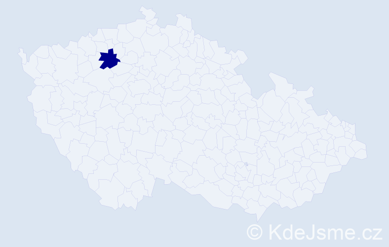 """Příjmení: '""""Jelínková Venclová""""', počet výskytů 1 v celé ČR"""