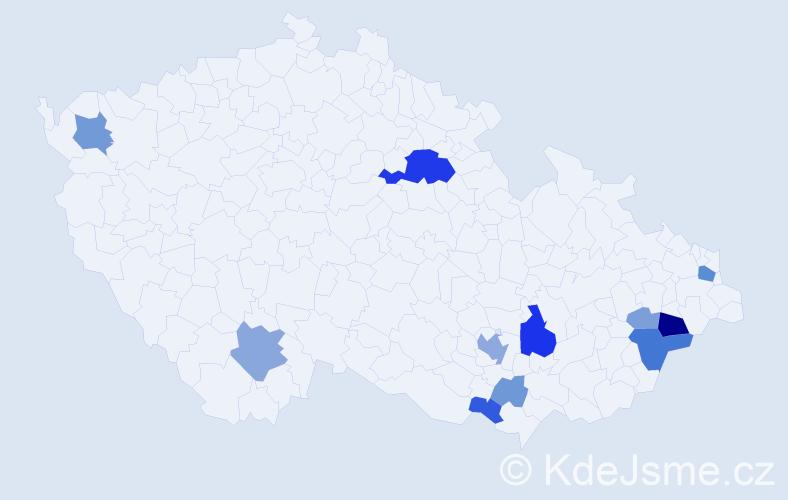 Příjmení: 'Lenomar', počet výskytů 29 v celé ČR