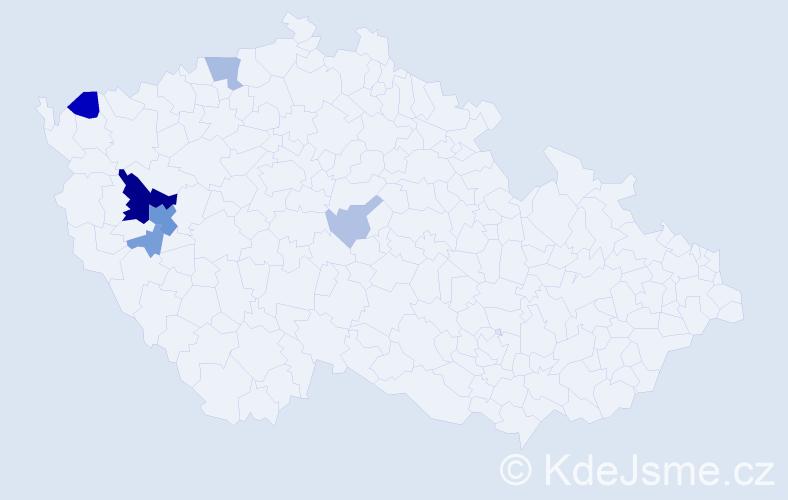 Příjmení: 'Krisman', počet výskytů 21 v celé ČR