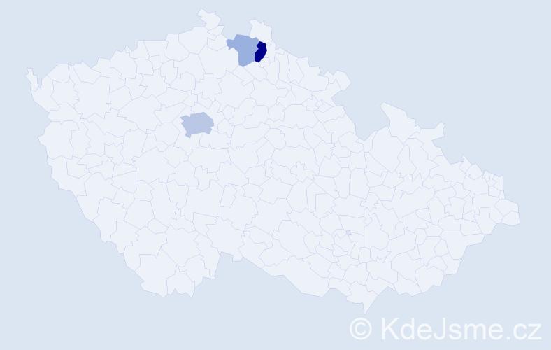 Příjmení: 'Haninger', počet výskytů 8 v celé ČR