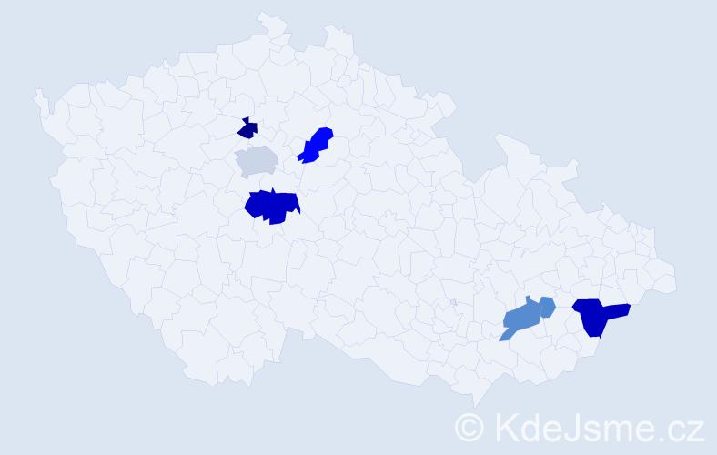Příjmení: 'Harangozó', počet výskytů 26 v celé ČR