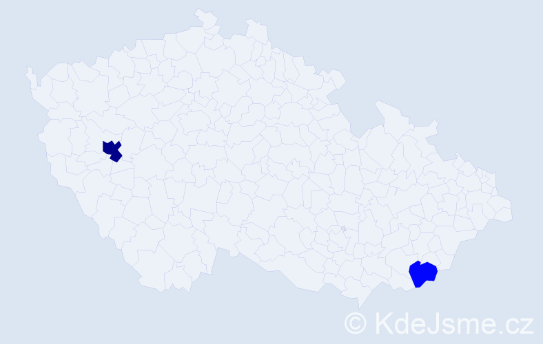 Příjmení: 'Brašeňová', počet výskytů 4 v celé ČR