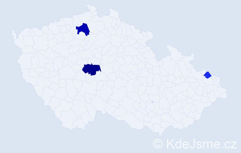 Příjmení: 'Jabčanková', počet výskytů 5 v celé ČR