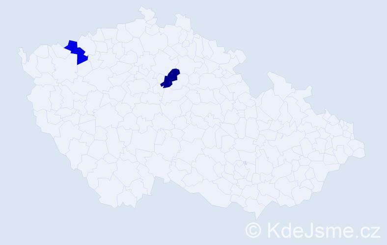 Příjmení: 'Ujlakyová', počet výskytů 2 v celé ČR
