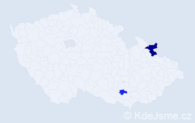 Příjmení: 'Ellison', počet výskytů 4 v celé ČR