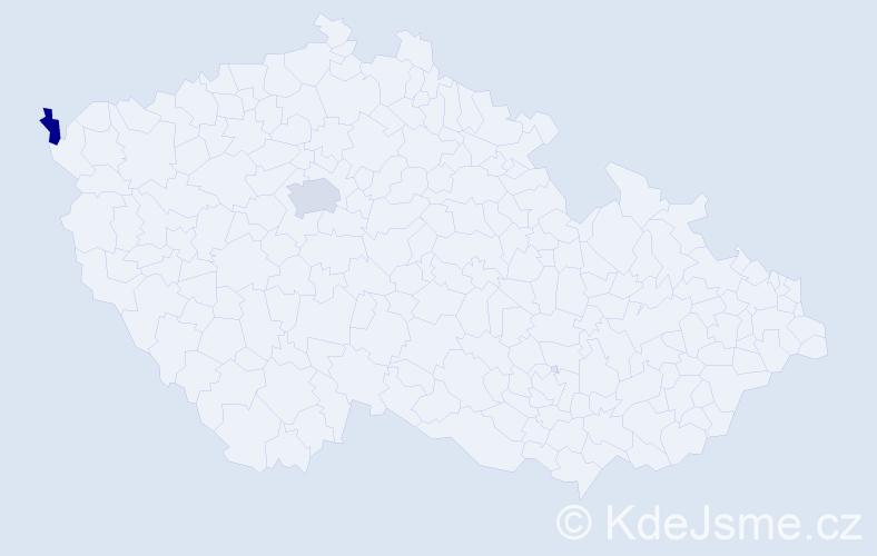 Příjmení: 'Klátík', počet výskytů 3 v celé ČR