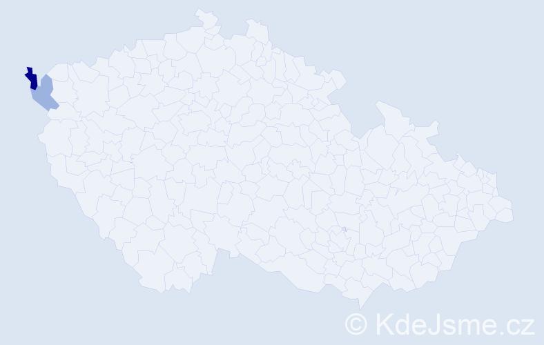 Příjmení: 'Cvašková', počet výskytů 3 v celé ČR
