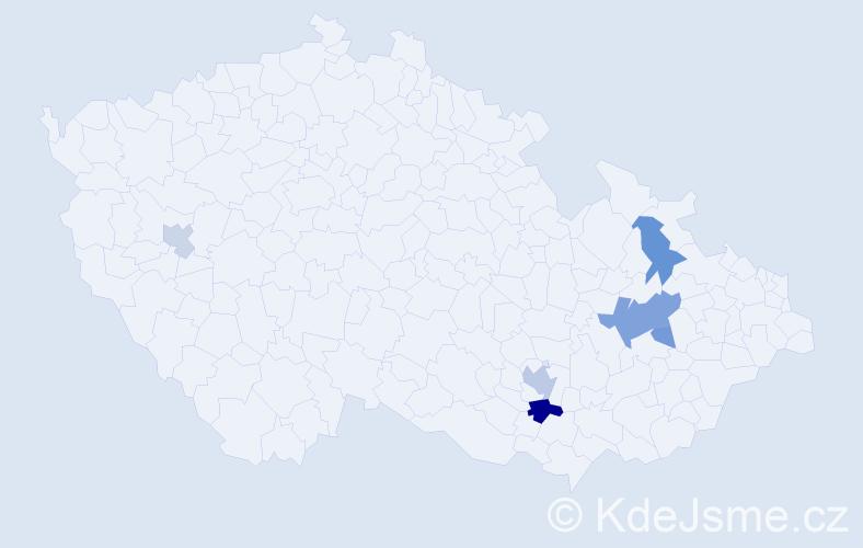 Příjmení: 'Ceklová', počet výskytů 23 v celé ČR