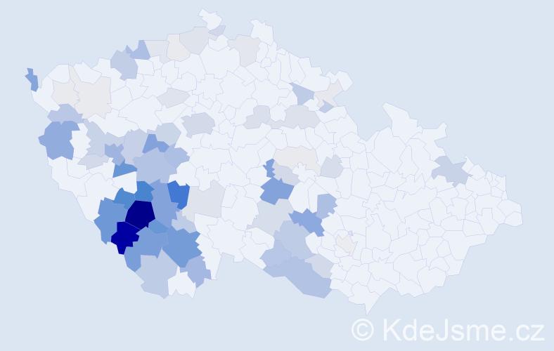 Příjmení: 'Bártík', počet výskytů 270 v celé ČR
