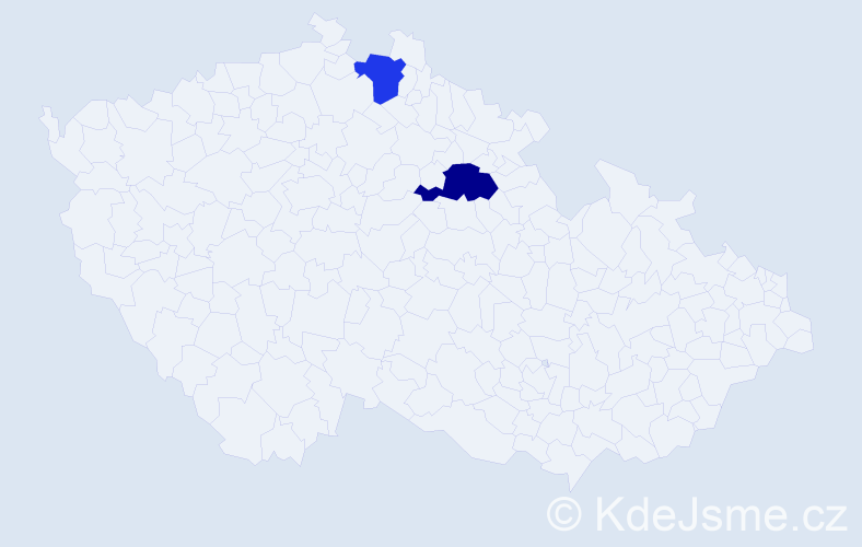 Příjmení: 'Bereščák', počet výskytů 10 v celé ČR