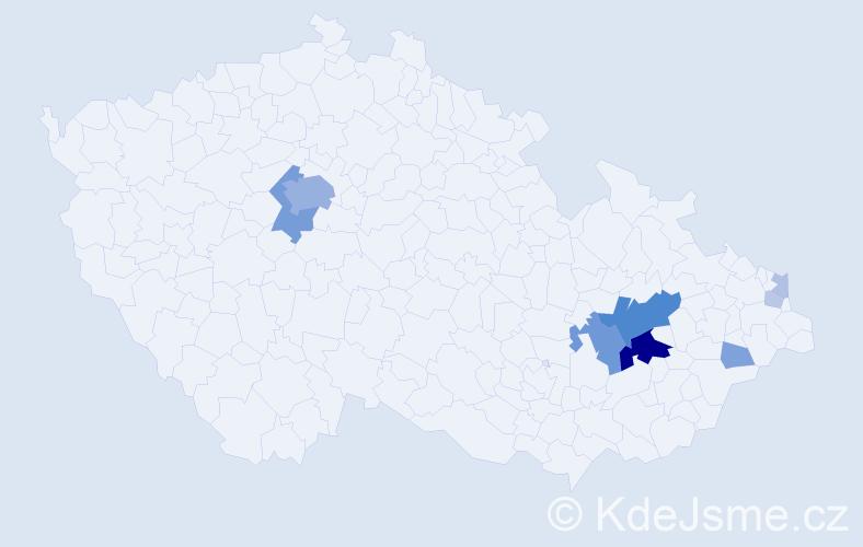 Příjmení: 'Babiánková', počet výskytů 36 v celé ČR