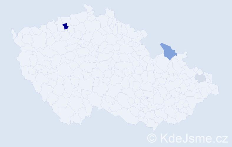 Příjmení: 'Khalid', počet výskytů 4 v celé ČR