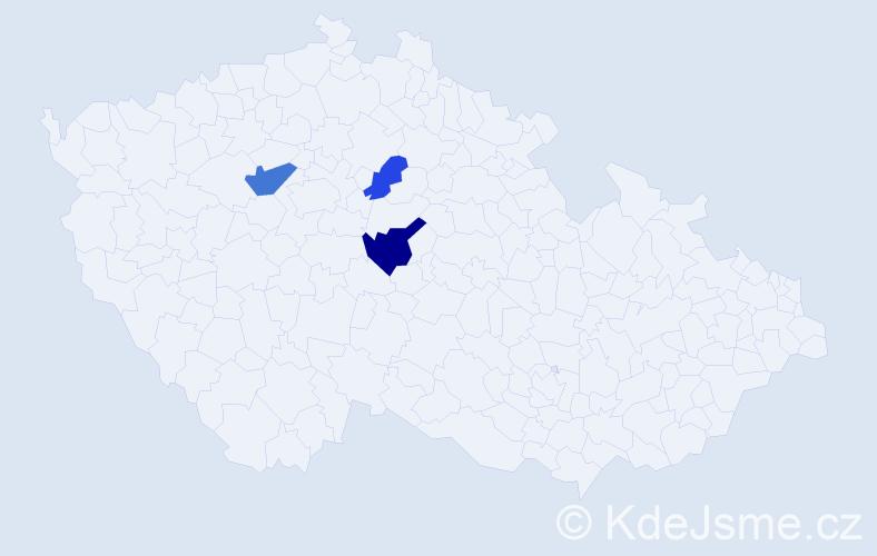 Příjmení: 'Egly', počet výskytů 5 v celé ČR