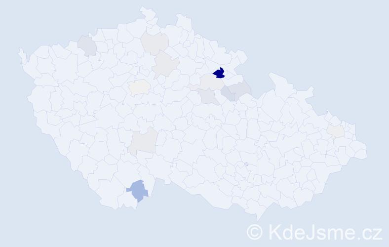 Příjmení: 'Lajvrová', počet výskytů 28 v celé ČR