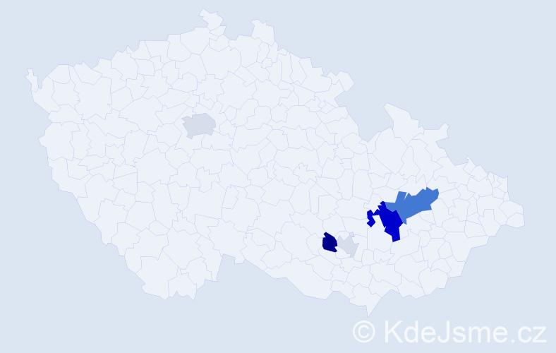 Příjmení: 'Kintl', počet výskytů 17 v celé ČR