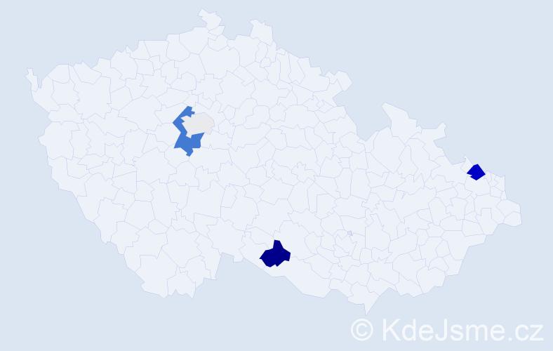 Příjmení: 'Gliganič', počet výskytů 10 v celé ČR