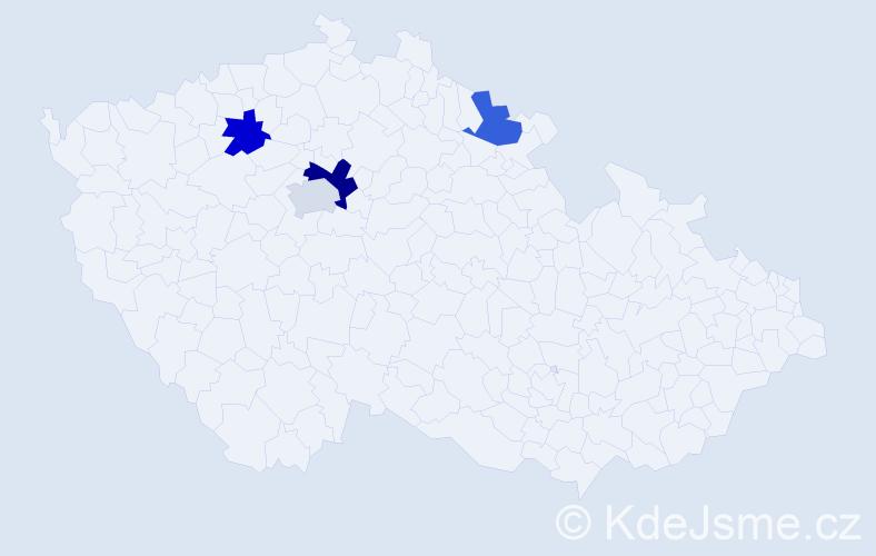 Příjmení: 'Cilková', počet výskytů 5 v celé ČR