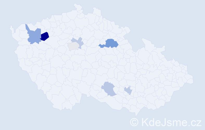 Příjmení: 'Lane', počet výskytů 15 v celé ČR