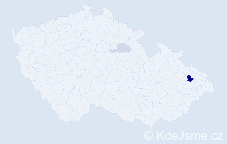 Příjmení: 'Bajnárek', počet výskytů 5 v celé ČR