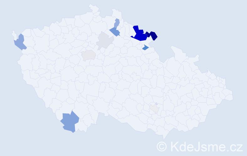 Příjmení: 'Folc', počet výskytů 42 v celé ČR
