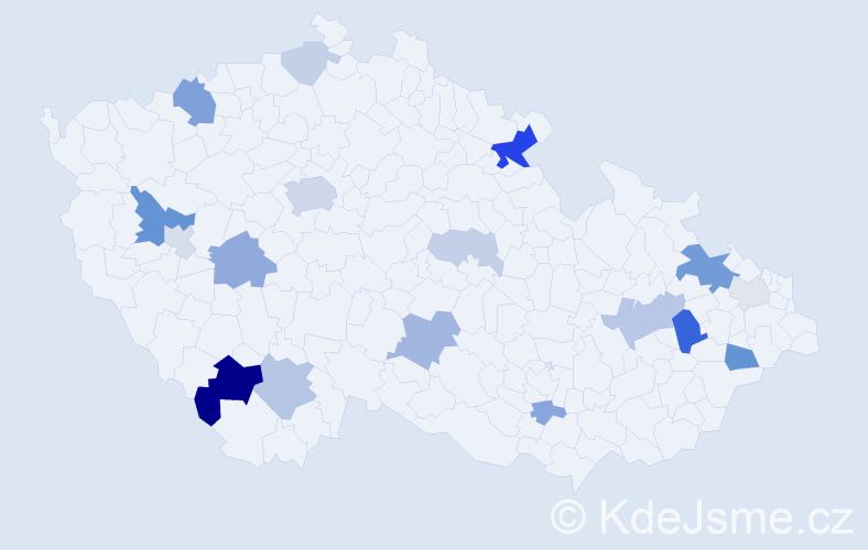Příjmení: 'Labanc', počet výskytů 46 v celé ČR