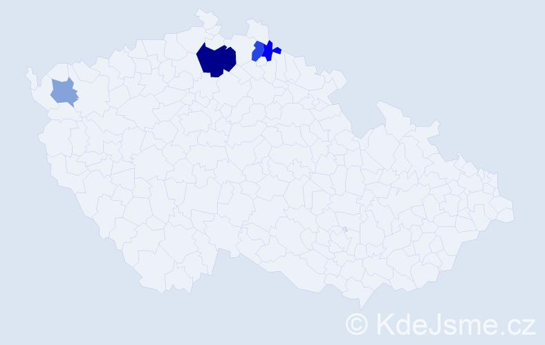 Příjmení: 'Jabálek', počet výskytů 8 v celé ČR