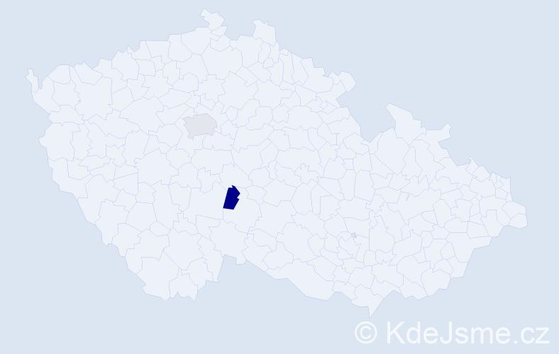 Příjmení: 'Lehovský', počet výskytů 6 v celé ČR