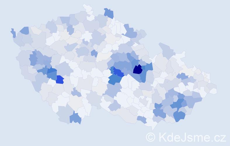 Příjmení: 'Karlík', počet výskytů 1129 v celé ČR