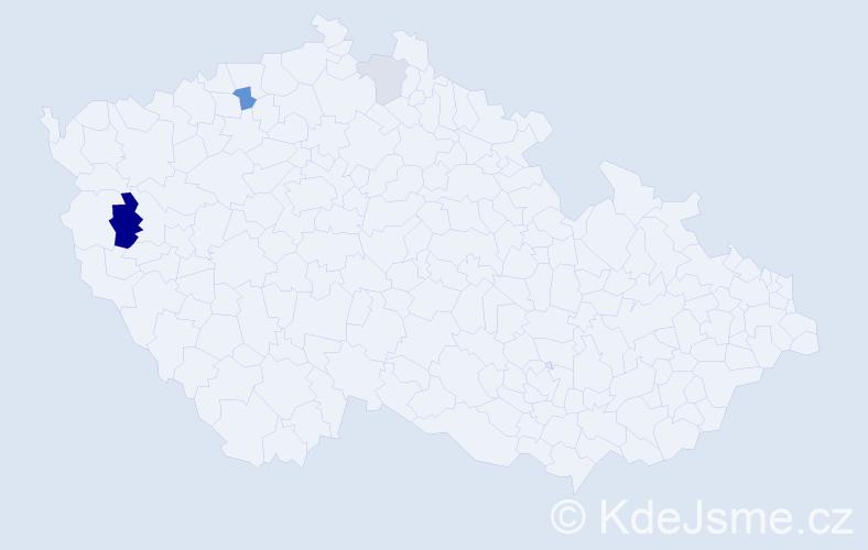 Příjmení: 'Ihnaťová', počet výskytů 7 v celé ČR