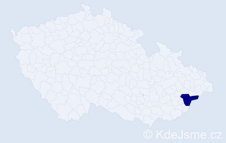 """Příjmení: '""""Dědičová Zimmermannová""""', počet výskytů 1 v celé ČR"""