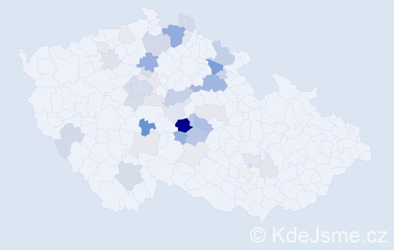 Příjmení: 'Dušátko', počet výskytů 118 v celé ČR