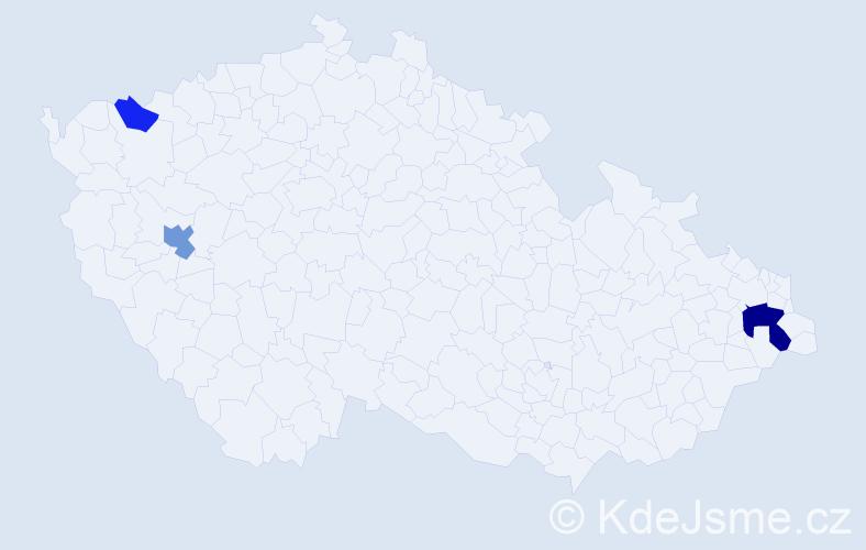 Příjmení: 'Halandová', počet výskytů 7 v celé ČR