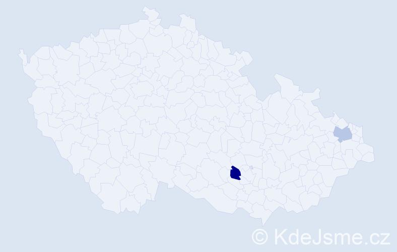 Příjmení: 'Irblich', počet výskytů 4 v celé ČR