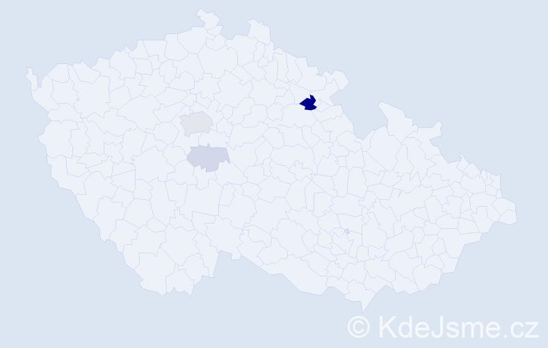 Příjmení: 'Fassati', počet výskytů 11 v celé ČR