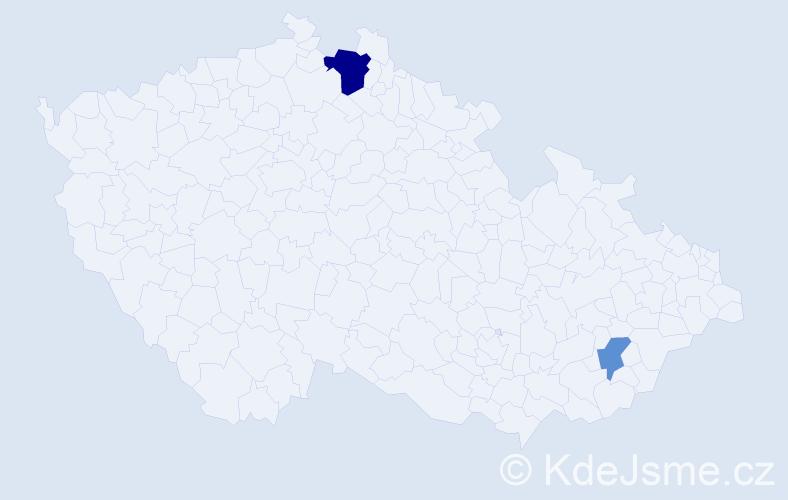 Příjmení: 'Lapoš', počet výskytů 4 v celé ČR