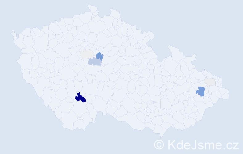 Příjmení: 'Kruppová', počet výskytů 17 v celé ČR