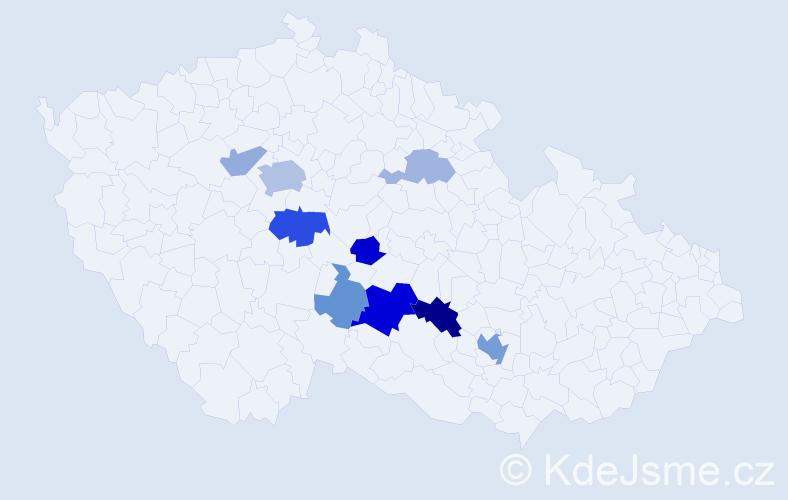 Příjmení: 'Feldmanová', počet výskytů 21 v celé ČR